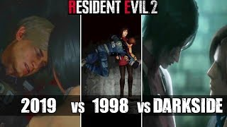 Ada Wong Manipulates A Wounded Leon - RE2 Remake VS Original RE2 VS Darkside Chronicles Comparison
