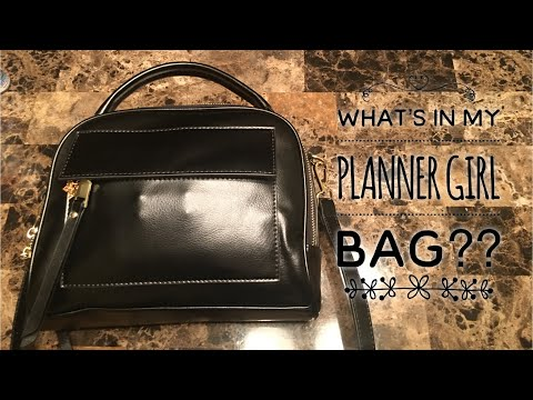 Review| My New Planner Girl Bag| What's in my Bag?
