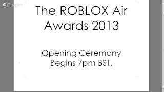 ROBLOX Air Awards Opening Ceremony