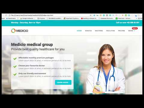 FREE MEDICAL TEMPLATE DOWNLOAD REVIEW | hospital doctor bootstrap template theme