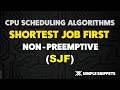 Shortest Job First (SJF) - Non Pre Emptive CPU Scheduling Algorithm - Operating Systems
