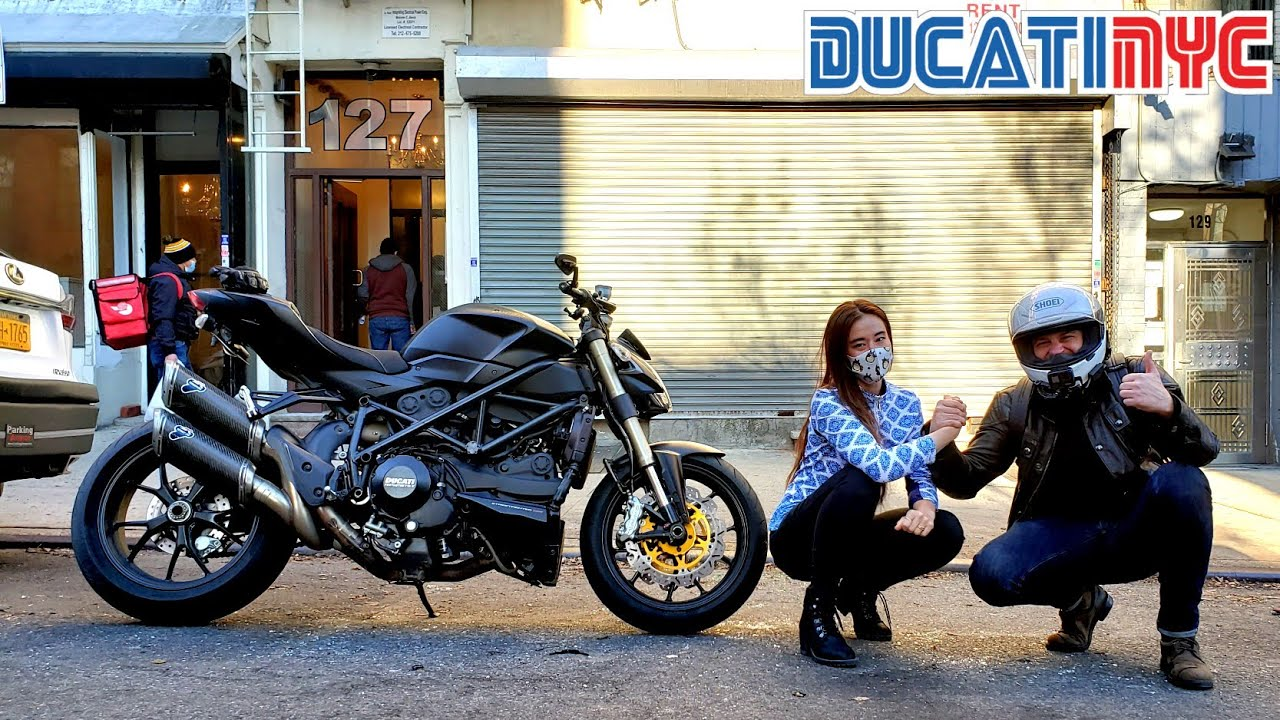 Dippin Manhattan on StreetFighter | meeting ayalolwut! | RAW Termignoni Exhaust on Ducati v1399
