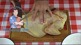 Как разделать курицу или петуха на порционные куски.