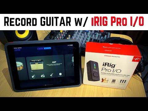 IRig Pro I/O - Guitar Recording In GarageBand IOS (iPad/iPhone)