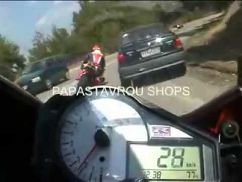 Sportbikes racing and getting sideways on the street....with oncoming traffic!!