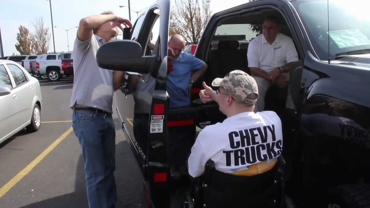 Criswell Chevrolet Presents the Mobility Silverado 1500 Wheelchair Lift Pickup Truck - YouTube