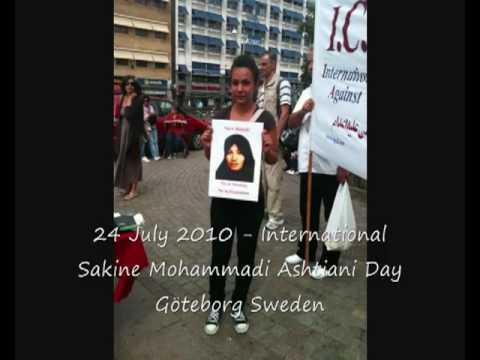 Iranian Sakineh Mohammadi Ashtiani international day - Sweden Gothenburg 24 July 2010