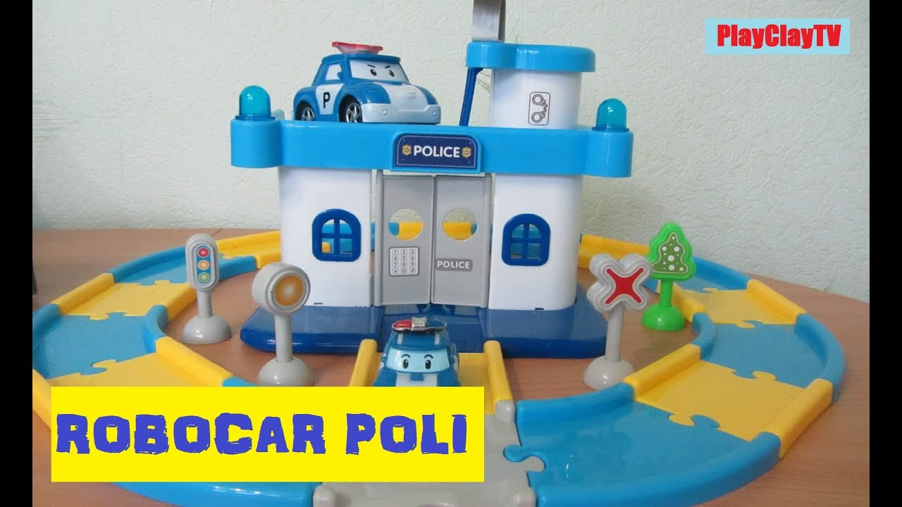 Robocar poli police office station playclaytv funny video for kids youtube - Poli robocar francais ...