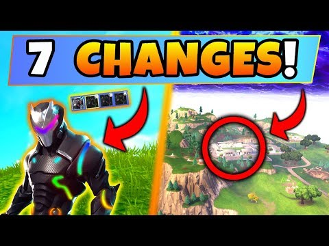 Fortnite Update: 7 SECRET CHANGES! – NEW Omega Colors, Soccer Stadium (Battle Royale New Gun/Skin) thumbnail