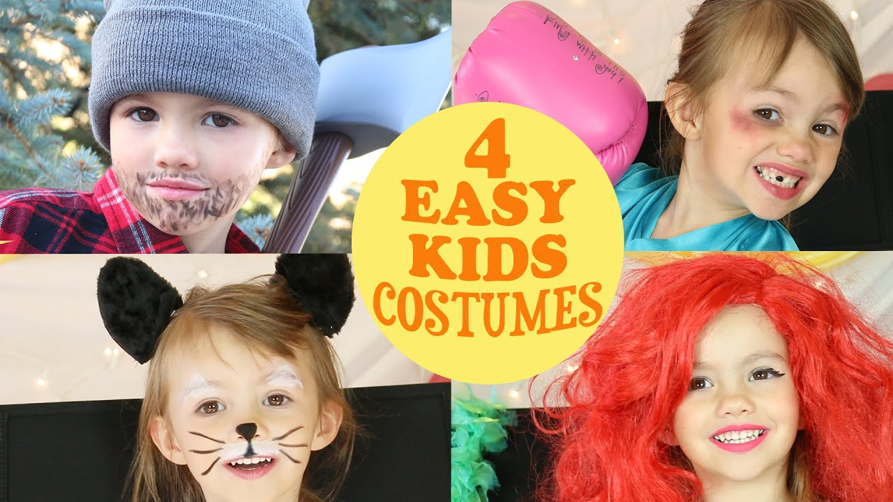 4 cute easy costume ideas for kids
