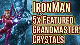 5x IronMan (Infinity War) Featured Grandmaster Crystal Opening