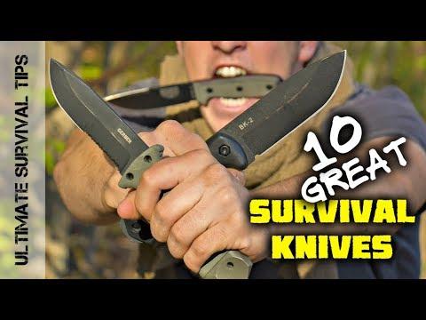 KNIFE QUEST - Top 10 Survival Knives - Mora / Gerber / ESEE / TOPS / Ka-Bar  - Best Blades