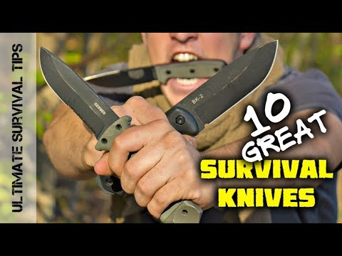 Top 10 BEST Survival Knives - Mora / Gerber / ESEE / TOPS / Ka-Bar  - Best Blades