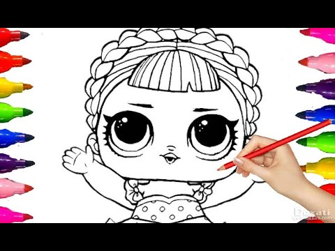 LOL DOLL SURPRISE GLITTERY Coloring Pages| BARBIE for kids Girls Learning PAinting kids Art Time