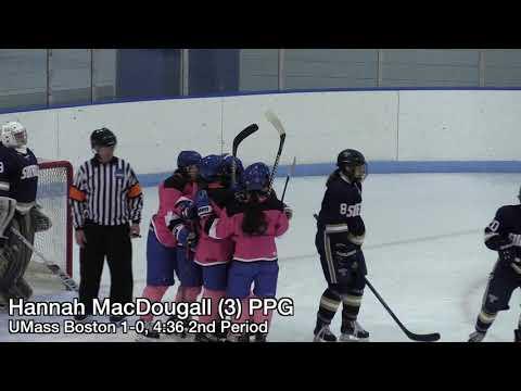 UMass Boston Women's Hockey Vs. Suffolk U. Highlights (11/16/19)