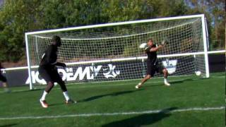 soccer shooting exercise   shots and blocks drill   nike academy