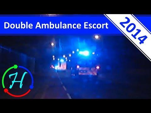 Double Ambulance Escort In Edinburgh - 18.6.2014