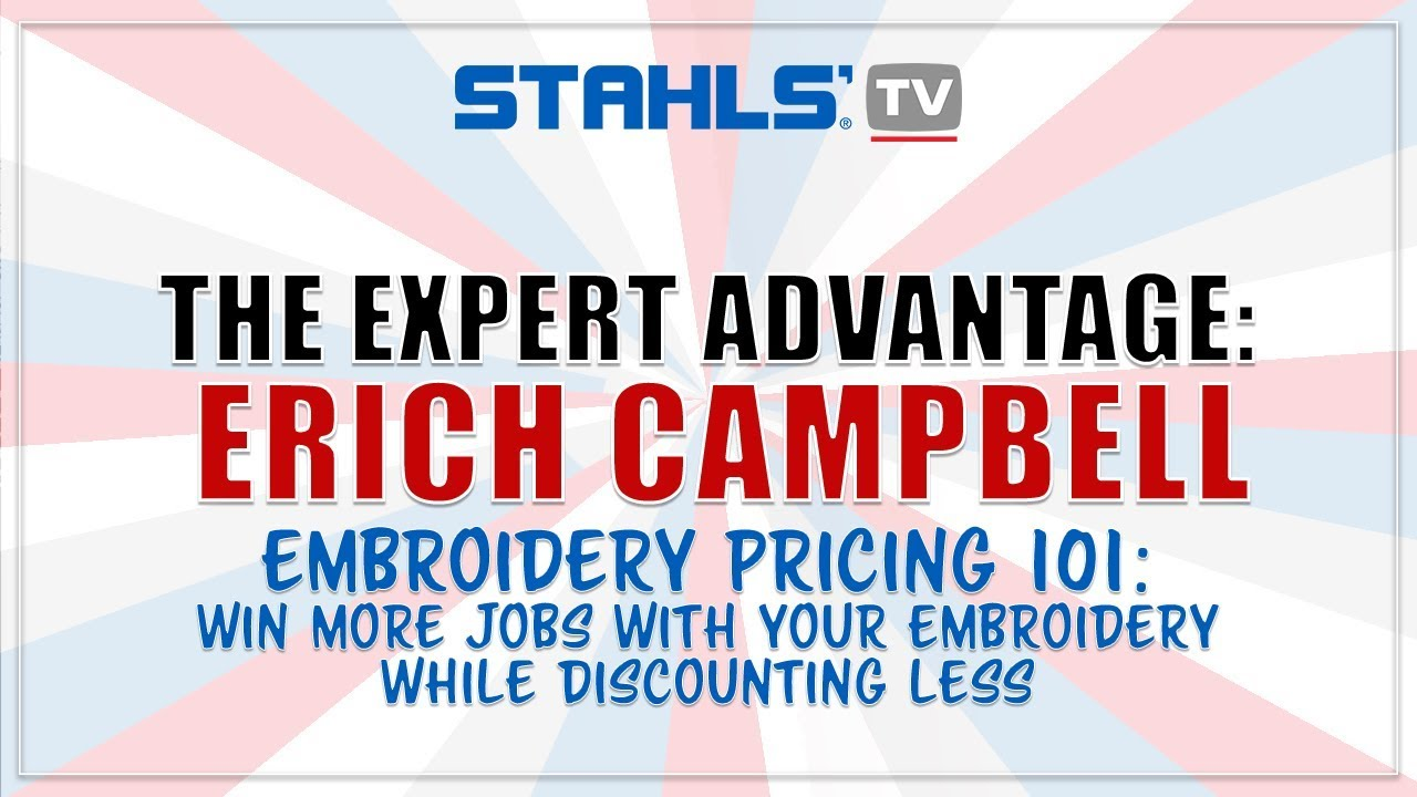 Embroidery Pricing 101 Win More Jobs While Discounting Less Youtube