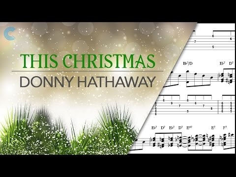 Piano - This Christmas - Donny Hathaway - Sheet Music, Chords, & Vocals