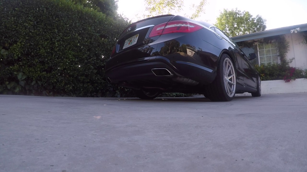 E550 Biturbo Resonator Delete(Both) Gutted Mufflers and high flow cats 200  Cell