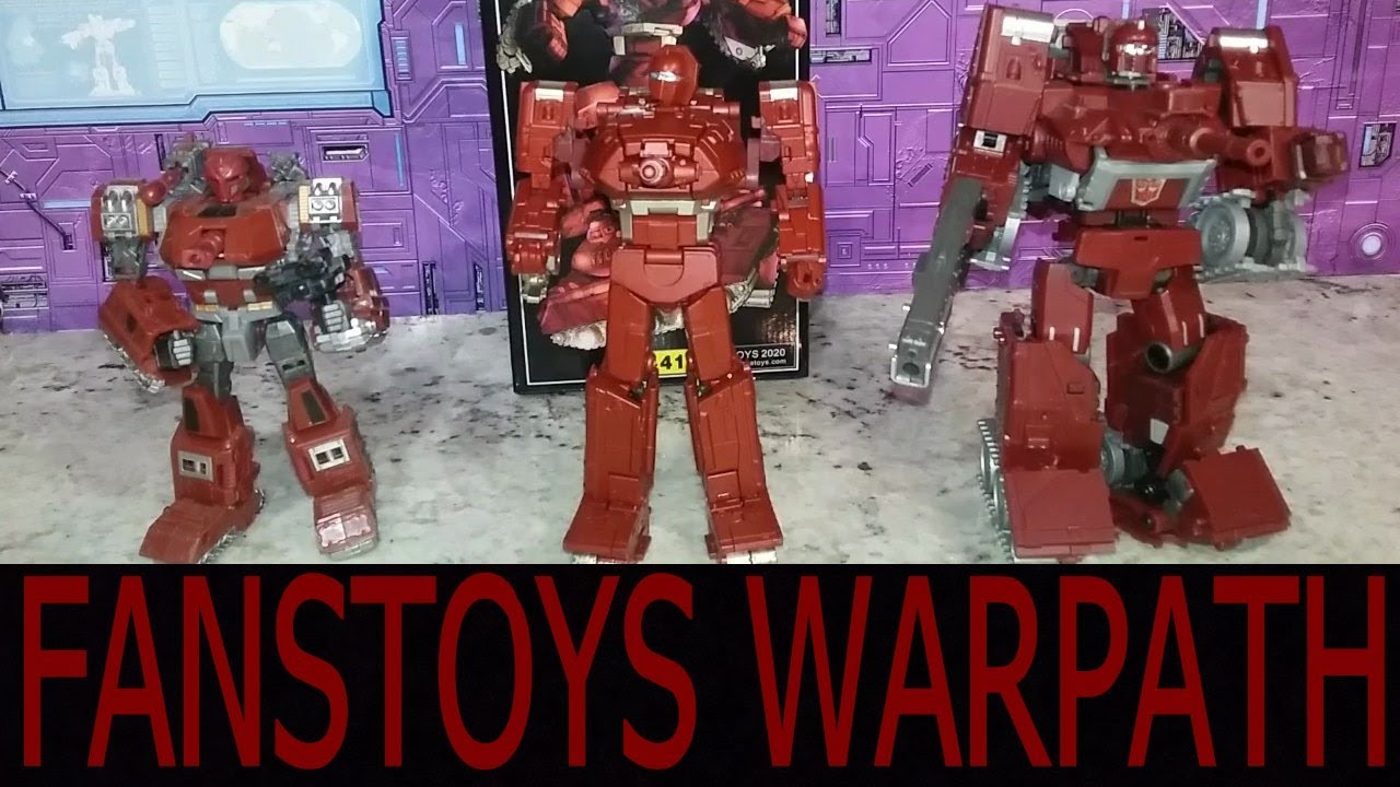 Transformers FansToys FT41 FT-41 Sheridan G1 Warpath Action figure Toy