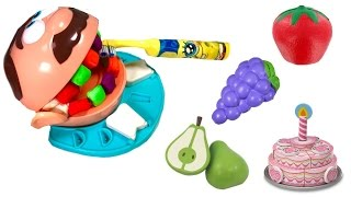 Best Learning Colors  Video for Children Play Doh Dentist Teeth Eat Vegetables & Velcro Fruit