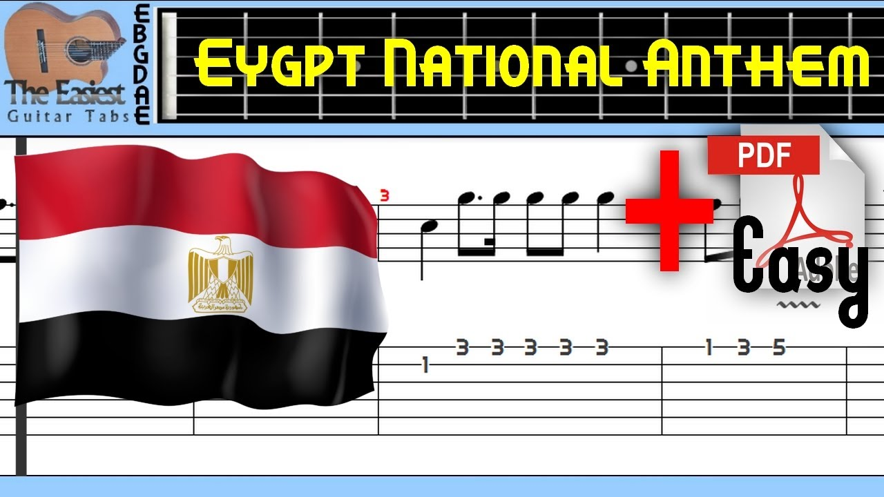 The Easiest Guitar Tabs: Egypt - National Anthem - بلادي، بلادي، بلادي (Easy)