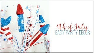 Easy 4th Of July Party Decor Diy | Free Or Cheap  | Easy Patriotic Decor Ideas
