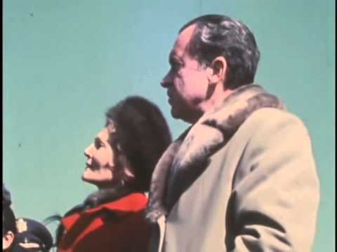 President Nixon In China - On the Great Wall