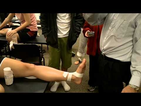 ankle strapping tape instructions