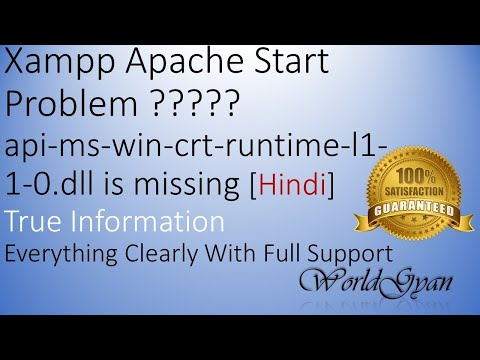 Xampp Apache Start Problem    Api-ms-win-crt-runtime-l1-1-0.dll Is Missing    100% Solution