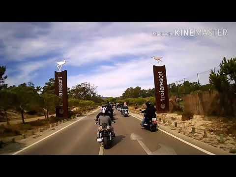 Chegada a Tróia e passeio até a marina. Harley Riders Setúbal