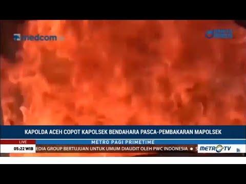 Ada Aksi Warga Bakar Polsek, Kapolsek di Aceh Dicopot oleh Kapolda