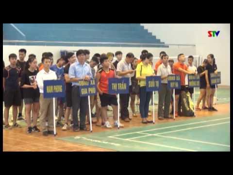 Khánh thành nhà Văn hóa Thể thao và khai mạc giải cầu lông Thanh thiếu niên năm 2017
