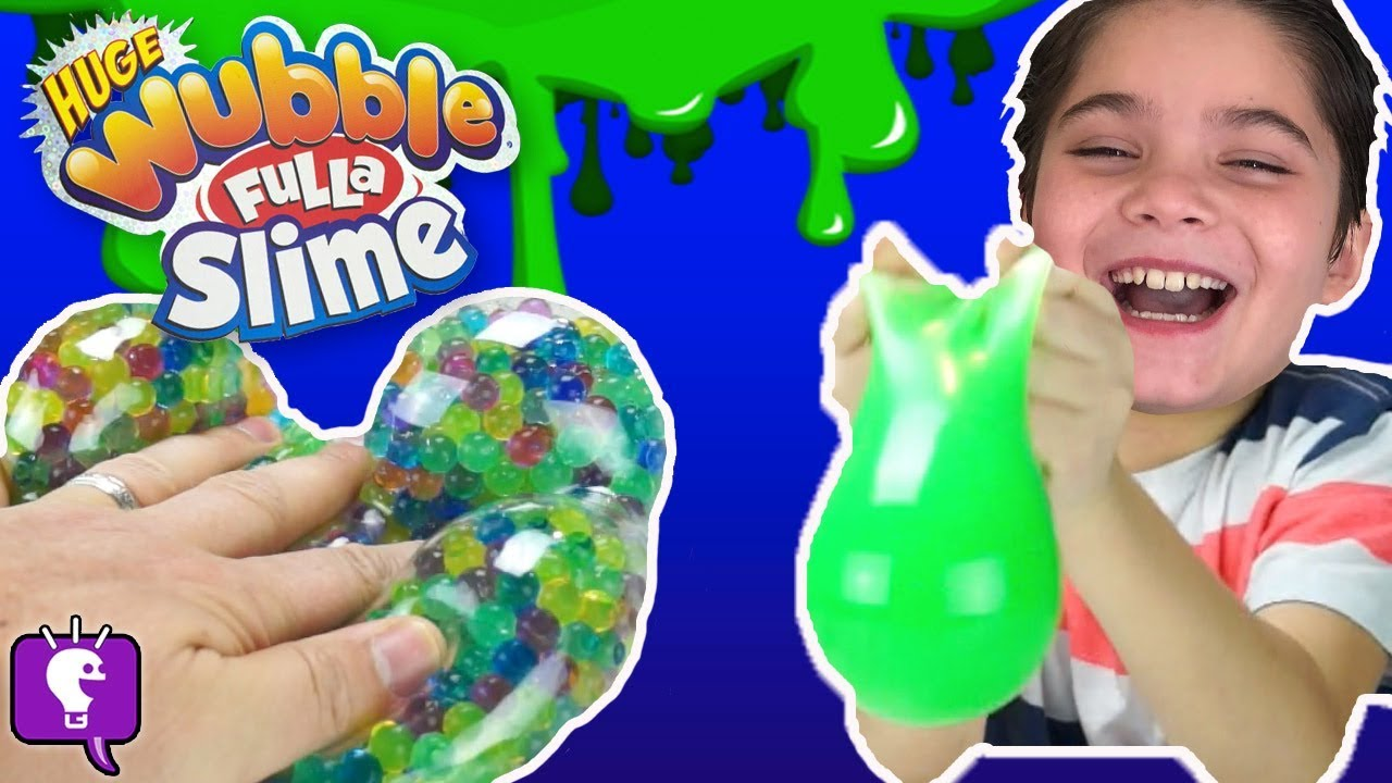 Wubble Fulla Slime and Marbles! Surprise Toys Inside with HobbyKidsTV