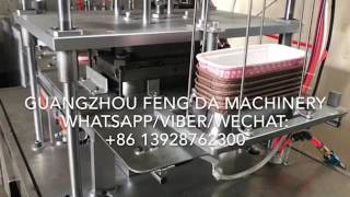 auto single mold machine for big size paper container with rim