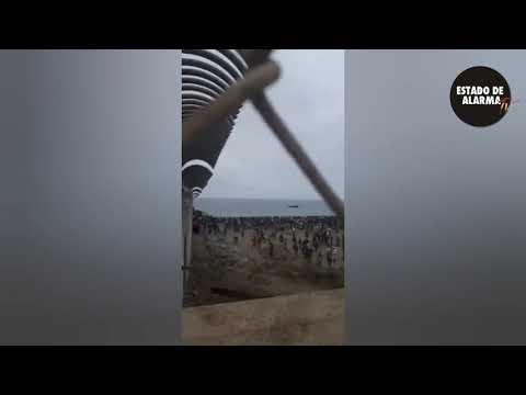 Marroquíes linchan a un grupo de policías en la frontera de Ceuta