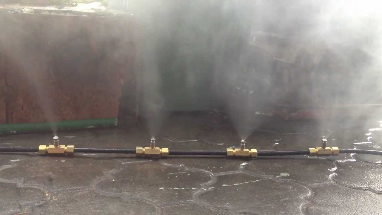 Mist Spray Heads : Mist nozzle demo youtube