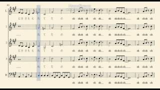 Superfly/愛をからだに吹き込んで アカペラ楽譜 - Youtube動画を自動 ...