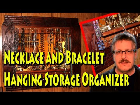 $15 DIY Necklace and Bracelet Hanging Storage Organizer