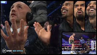 The knockdown reaction! 😂 Inside the Wilder v Fury 2 commentary booth with David Haye