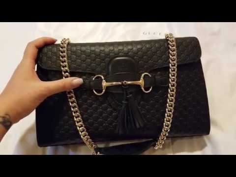 Gucci Emily Medium Black Bag (Toronto Premium Outlet)