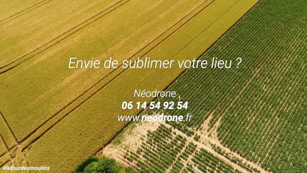 Découverte de moulins avec des vidéos aériennes par drones