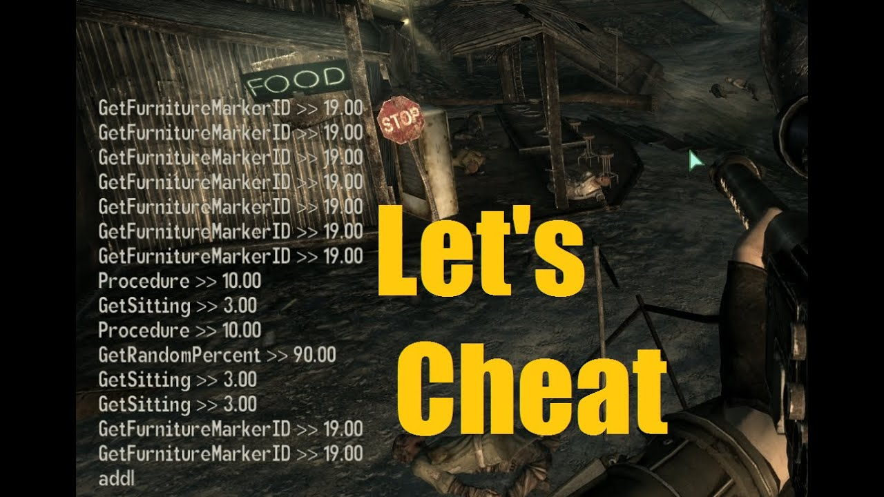 let s cheat on fallout 3 pc console command cheats ammo