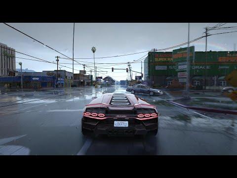 [4K]Most Realistic GTAV ever! Raytracing | QuantV 3.0 | GTAV Real Basement | Realistic traffic