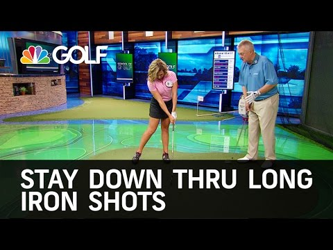 How to Stay Down Through Long Irons Shots | Golf Channel