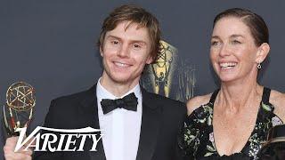 Emmy Winners Evan Peters & Julianne Nicholson Celebrate 'Mare of Easttown' Co-Star Kate Winslet