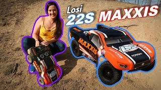 Losi 22S Maxxis Bashing & AVC Testing - Crazy 2WD FUN - TheRcSaylors