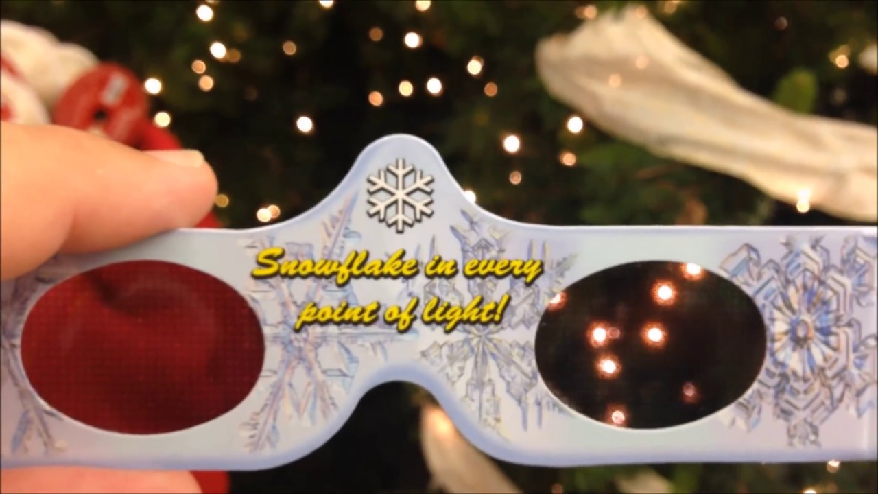 Awesome 3D Christmas Glasses - FULL TEST See Holiday Specs Working ...