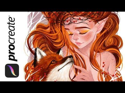Fox Spirit Digital Painting In Sai Youtube Luleiya illustrator artist | freelance illustrator and comic artist. youtube